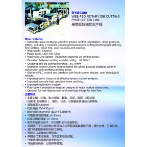 BYM1300 Web-Fed Rotary Die Cutting Production Line